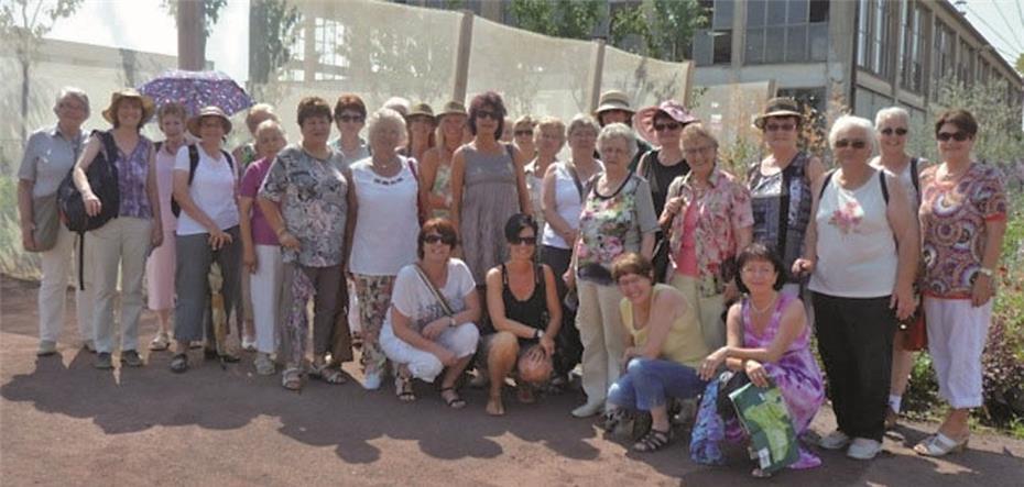 Bei heißen Temperaturen besuchten die Waldorfer Frauen die Landesgartenschau in Landau