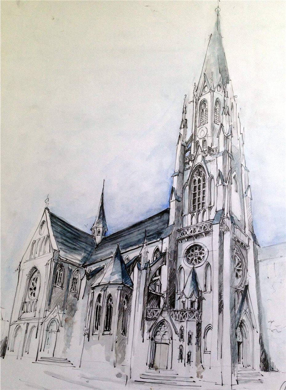 Neuer blick auf die kirche st josef for Innenarchitektur lernen