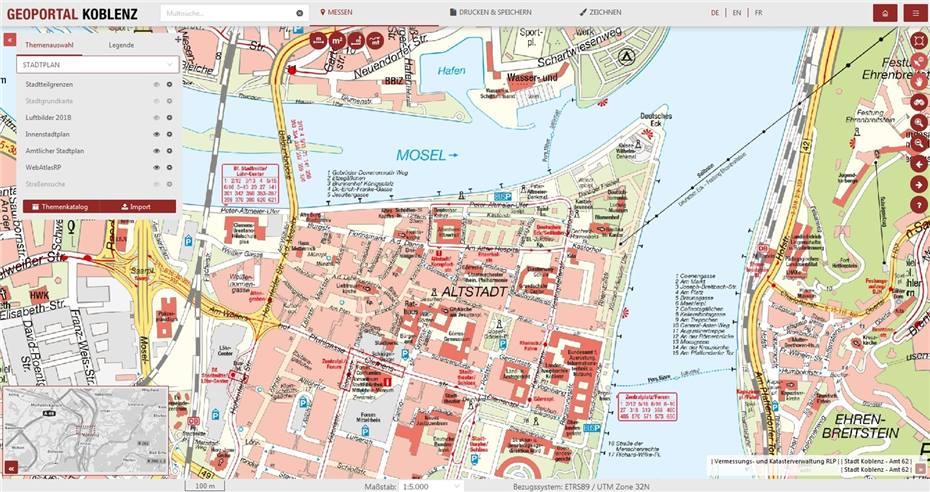Karte Koblenz.Neuer Stadtplan Von Koblenz Geht Online
