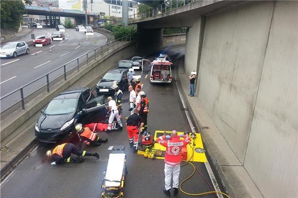 Schwerer Unfall mit Krad in Koblenz