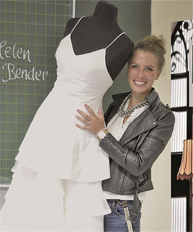 Jungdesignerin Helen Bender entwarf ihr Brautkleid selbst
