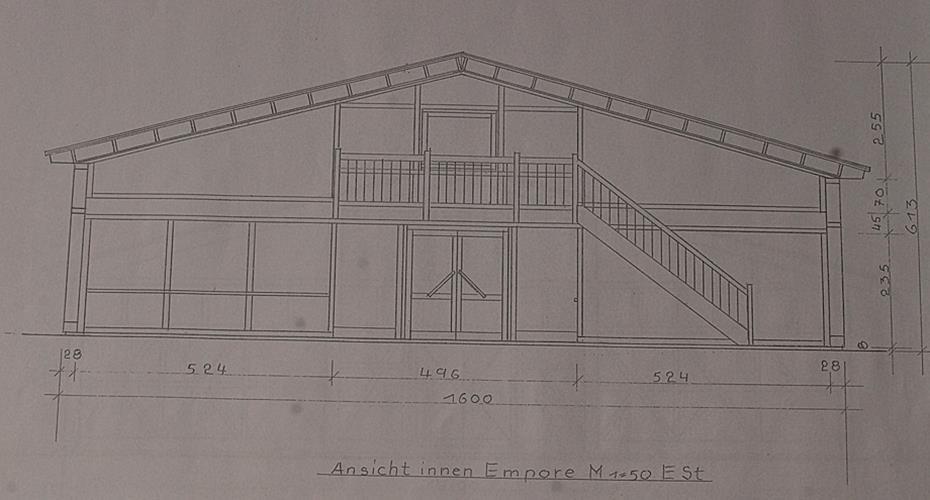 Eine halle f r l hndorf entworfen for Fachwerkkonstruktion stahl