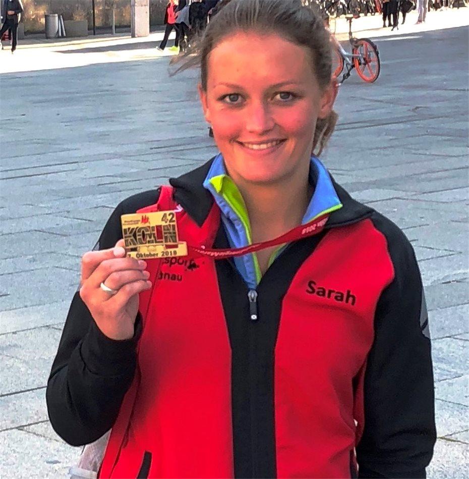 Sarah Dismon Lief Köln Marathon