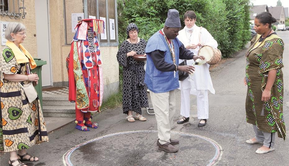 Anhänger der Yoruba-Religion ehrten ihre Vorfahren